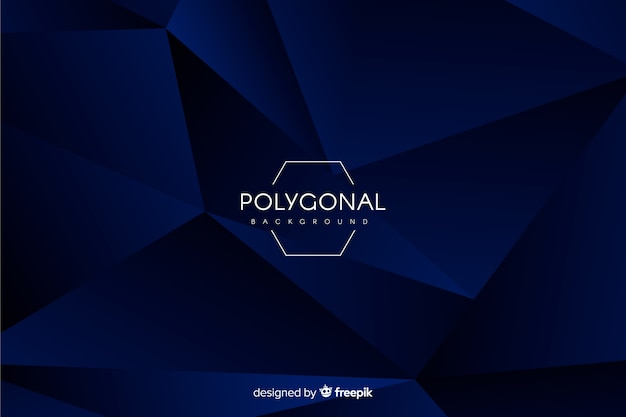 Dunkelblauer polygonaler hintergrund