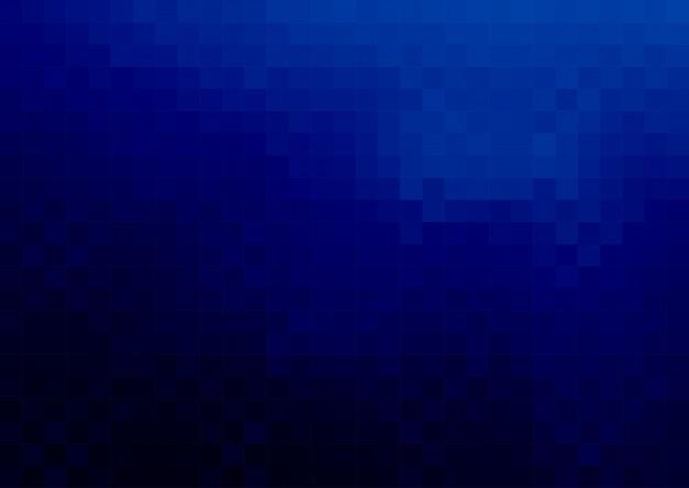 Dunkelblauer quadratischer pixel-mosaik-hintergrund