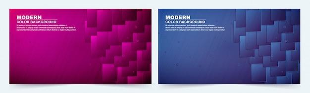 Dunkelblauer und purpurroter geometrischer formhintergrund