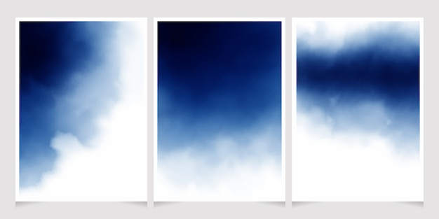 Dunkelblaues aquarell für hochzeitseinladungskarte