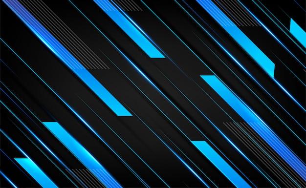 Dunkelblaues silber überlappen schichten element 3d-effekt. abstrakter rahmenplan-technologieinnovationshintergrund