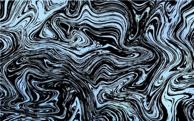 Dunkelblaues vektormuster mit gebogenen kreisen