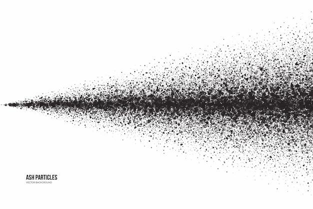 Dunkelgrauer aschepartikel-schmutz-abstrakter hintergrund