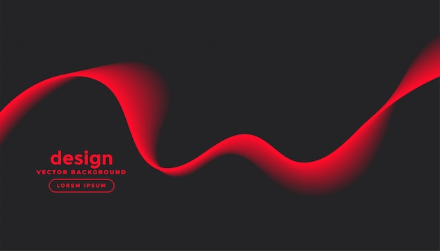 Dunkelgrauer hintergrund mit rotem wellenentwurf