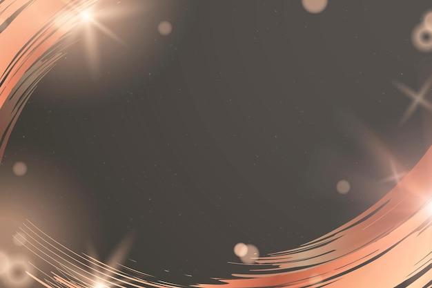 Dunkelgrauer hintergrundvektor mit kupfernem pinselstrich