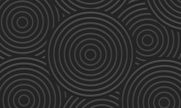 Dunkelgrauer hypnotischer abstrakter hintergrund