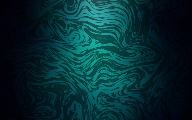 Dunkelgrünes vektormuster mit gebogenen kreisen