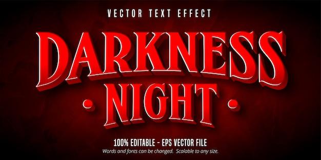 Dunkelheitsnachttext, bearbeitbarer texteffekt im spielstil
