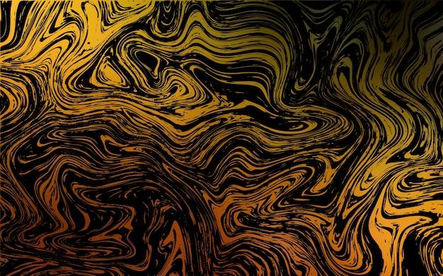 Dunkelorangees vektormuster mit gebogenen kreisen