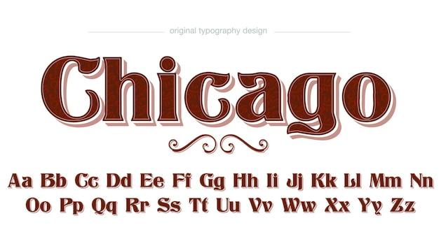 Dunkelrote retro-vintage-dekorative typografie