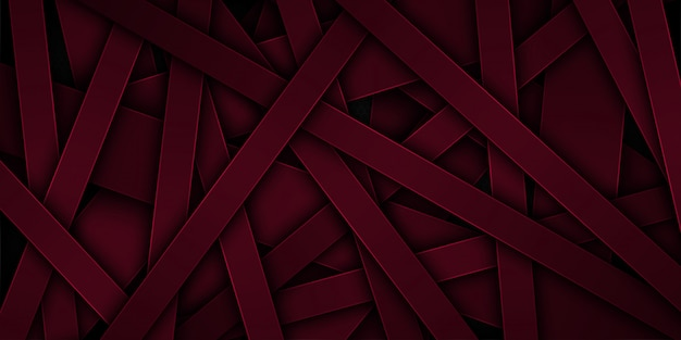 Dunkelroter abstrakter vektorhintergrund mit überschneidungsmerkmalen.