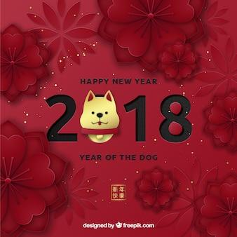 Dunkelroter chinesischer Hintergrund des neuen Jahres