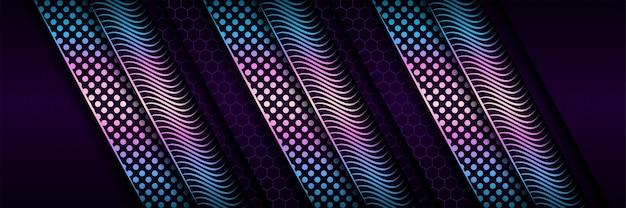 Dunkelviolette abstrakte technologie mit glitzerhintergrund des gradientenkreises