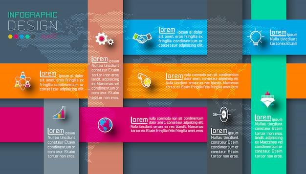 Dunkle etiketten mit geschäftsikonen infografiken.