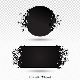Dunkle explosion banner-sammlung