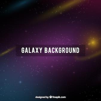 Dunkle galaxie hintergrund und goldene funkelt
