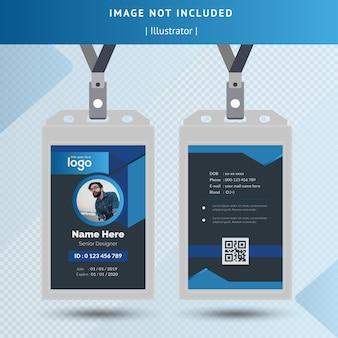Dunkle id-kartenvorlage