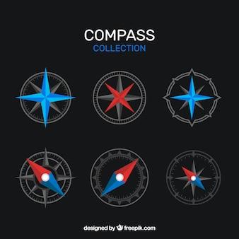 Dunkle kompass-sammlung
