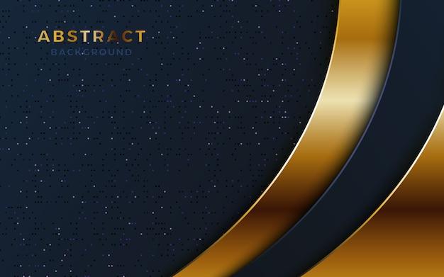 Dunkle luxushintergrundüberlappung mit goldener form und funkeln.