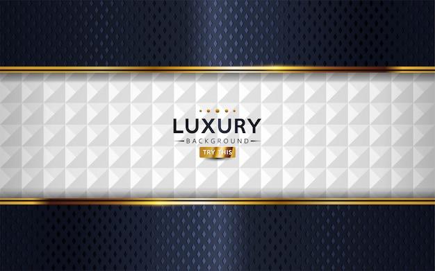 Dunkle marine und strukturierter weißer abstrakter luxushintergrund.