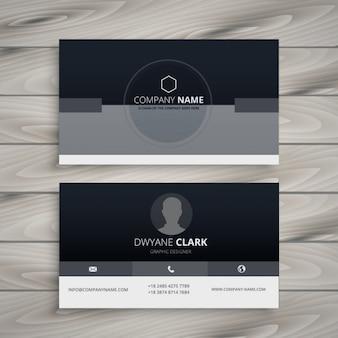 Dunkle minimalistischen visitenkarte