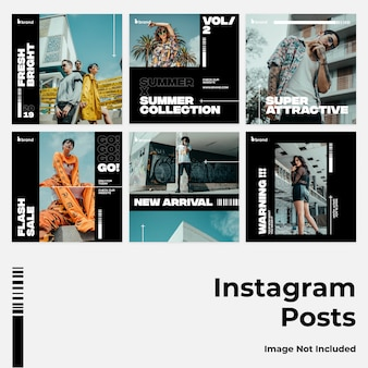 Dunkle mutige social media instagram banner
