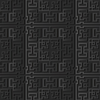 Dunkle papierkunst square geometry cross tracer frame