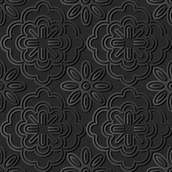 Dunkle papierkunst, stilvoller dekorationsmusterhintergrund des vektors