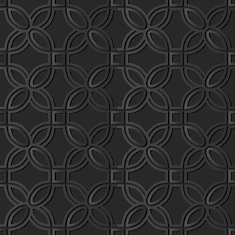 Dunkle papierkunstkurve rundes eckquadrat, vektor stilvoller dekorationsmusterhintergrund