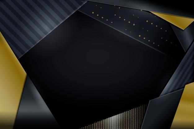 Dunkle papierschichten tapezieren mit goldenen details