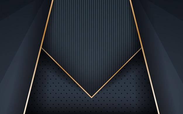 Dunkle realistische goldene linie und strukturierter hintergrund