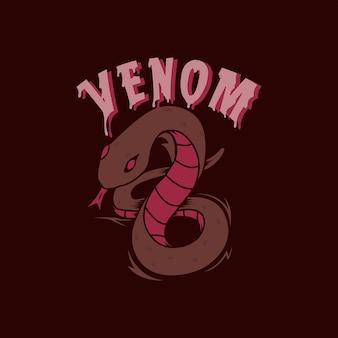 Dunkle schlangengiftillustration