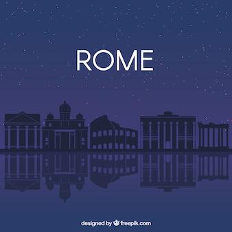 Dunkle skyline von rom