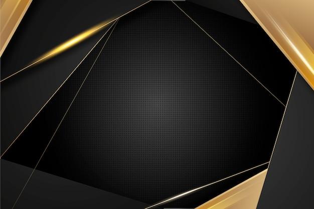 Dunkle tapete mit goldenen details