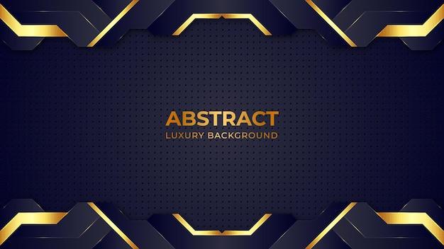 Dunkle und goldene glitzernde punkte der abstrakten form färben luxushintergrunddesignschablone