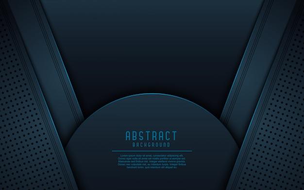 Dunkler abstrakter hintergrund 3d.