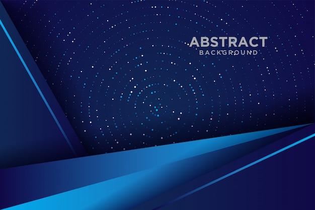 Dunkler abstrakter hintergrund mit blauen deckschichten. hintergrundüberlappungsschicht mit funkeln.
