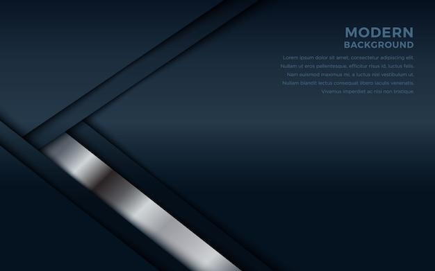 Dunkler abstrakter hintergrund mit deckschichten und silbernen linien.