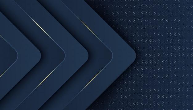 Dunkler abstrakter hintergrund mit deckungsschichten. luxus-design-konzept. golden glitters dots element dekoration luxus-design-konzept