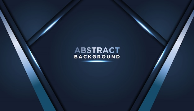 Dunkler abstrakter hintergrund mit dunkelblauen deckschichten