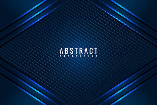 Dunkler abstrakter hintergrund mit dunkelblauen überlappungsebenen.