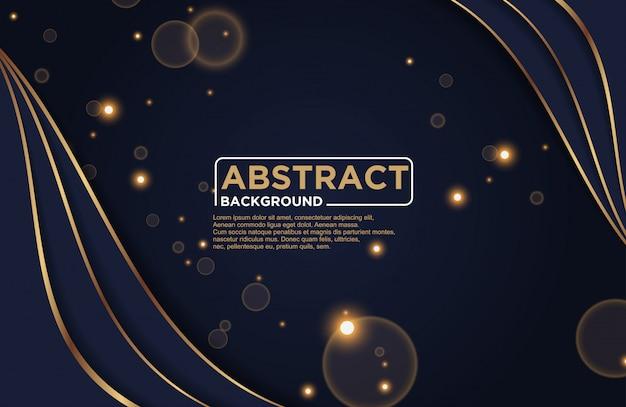 Dunkler abstrakter hintergrund mit dunklen überlappungsschichten