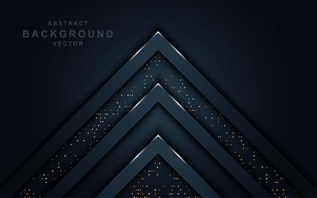 Dunkler abstrakter hintergrund mit funkeln.