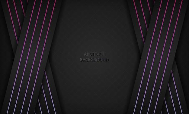 Dunkler abstrakter hintergrund mit geometrischer linie elementdekoration der steigung.