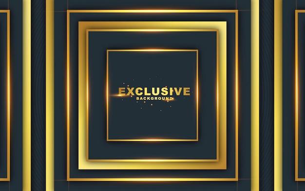 Dunkler abstrakter hintergrund mit luxuriösem gold