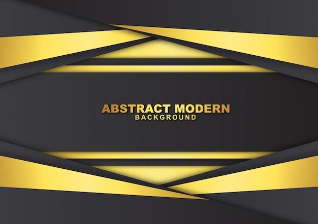 Dunkler abstrakter hintergrund mit luxuriöser goldfarbe