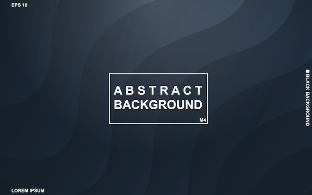 Dunkler abstrakter hintergrund mit minimalem modernem des schwarzen und blauen geometrischen musters