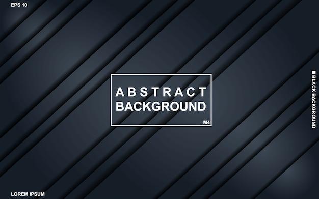 Dunkler abstrakter hintergrund mit minimalem modernem des schwarzen und blauen geometrischen musters.