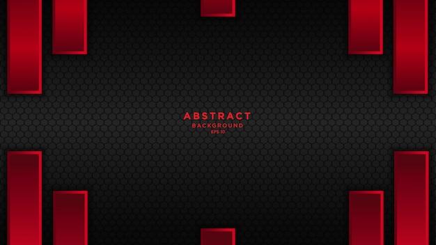 Dunkler abstrakter hintergrund mit roten schwarzen deckungsschichten.