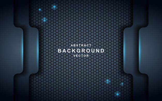 Dunkler abstrakter hintergrund mit schwarzen deckschichten. textur mit blauem effekt